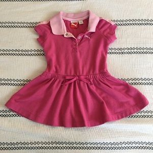 Puma Toddler Pink Polo Dress 18 mo